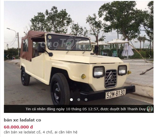 Xe hơi cổ vài chục triệu đồng bán đầy trên chợ mạng - Ảnh 4.
