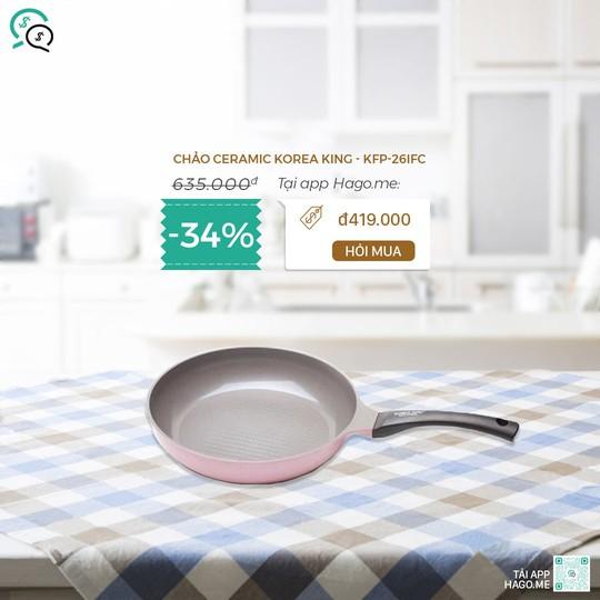 Điện gia dụng, đồ dùng nhà bếp, mỹ phẩm giảm đến 50% tại hago.me - Ảnh 3.