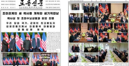 Truyền thông Triều Tiên tung hô Thượng đỉnh Mỹ - Triều - Ảnh 1.
