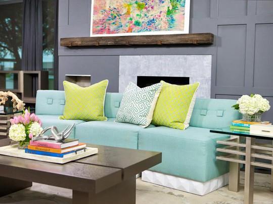 20 cách kết hợp màu sắc này khi trang trí phòng khách - Ảnh 2.