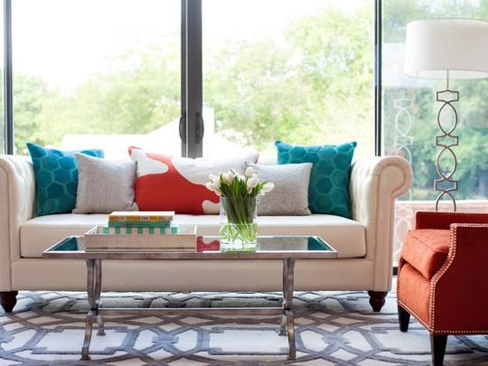 20 cách kết hợp màu sắc này khi trang trí phòng khách - Ảnh 15.