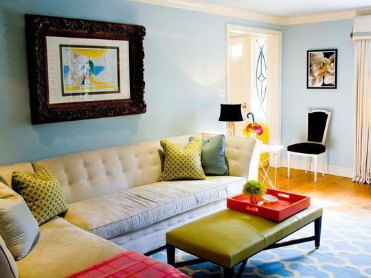 20 cách kết hợp màu sắc này khi trang trí phòng khách - Ảnh 4.