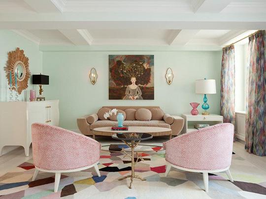20 cách kết hợp màu sắc này khi trang trí phòng khách - Ảnh 8.