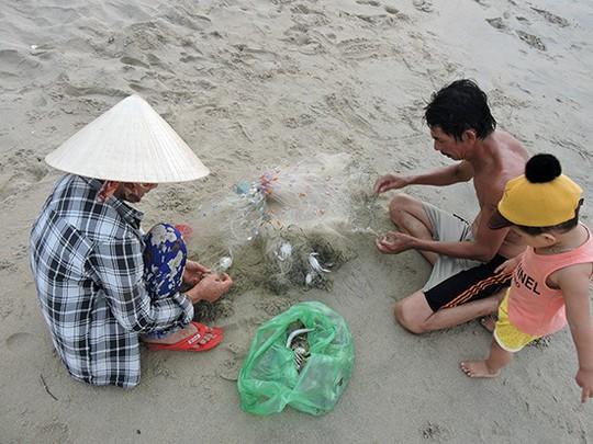 Quá sướng thấy ghẹ dính đầy lưới ngư dân ngay sát bờ biển Hội An - Ảnh 3.