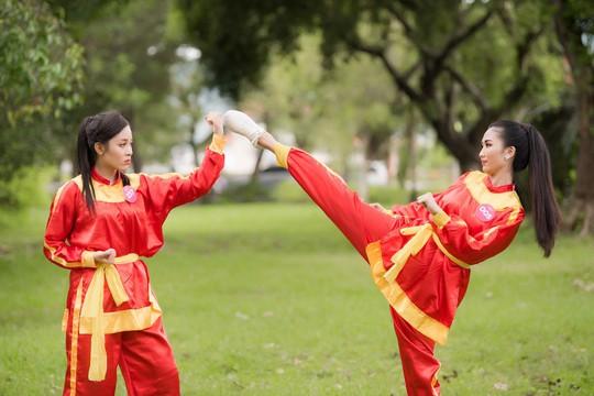 Ngắm thí sinh Hoa hậu Việt Nam 2018 luyện võ - Ảnh 4.