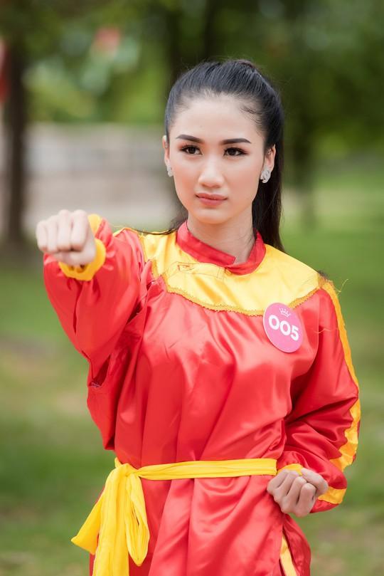 Ngắm thí sinh Hoa hậu Việt Nam 2018 luyện võ - Ảnh 5.