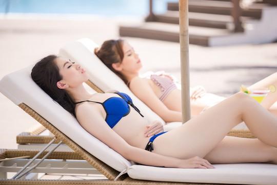 Thí sinh Hoa hậu Việt Nam 2018 nóng bỏng với bikini - Ảnh 4.