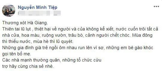 Sao Việt chung tay giúp người dân Hà Giang gặp nạn do mưa lũ - Ảnh 7.