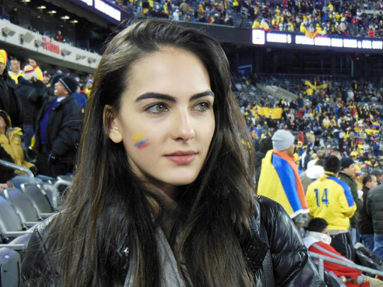 Mỹ nhân Colombia bất ngờ nổi tiếng nhờ World Cup - Ảnh 1.
