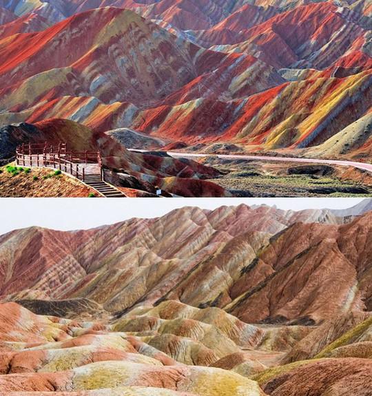 Sự thật về dãy núi cầu vồng sống ảo ở Trung Quốc - Ảnh 2.