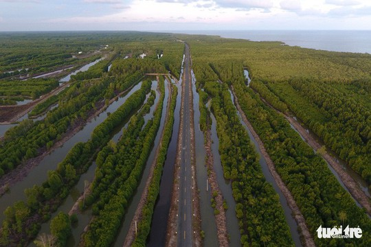 Ngắm khu dự trữ sinh quyển thế giới Mũi Cà Mau từ trên cao - Ảnh 9.