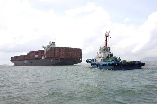 Tàu nước ngoài dài gần 300 m mắc cạn tại Vũng Tàu - Ảnh 1.