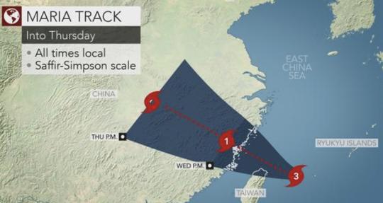 Siêu bão Maria tấn công Đài Loan, Trung Quốc nín thở - Ảnh 2.