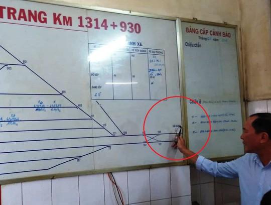Sự cố hy hữu tại ga Nha Trang: Hai tàu vào cùng 1 đường ray - Ảnh 1.