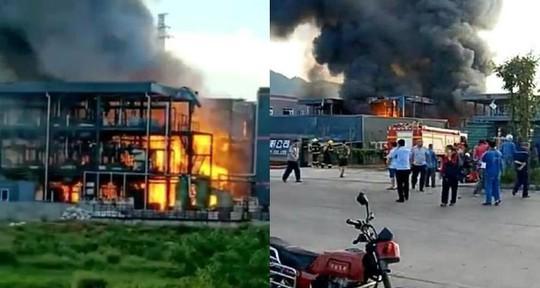 Trung Quốc: Nổ nhà máy hóa chất, 19 người chết - Ảnh 1.