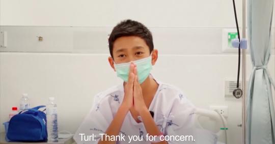 Đội bóng mắc kẹt quay video cảm ơn lực lượng cứu hộ - Ảnh 1.
