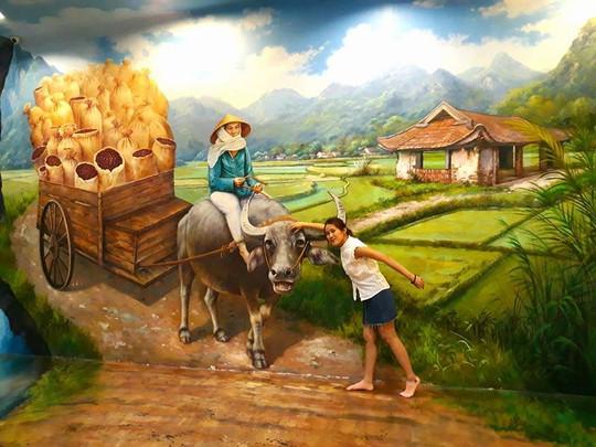 Bảo tàng tranh 3D cuốn hút giới trẻ Sài Gòn - Ảnh 1.