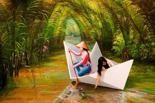 Bảo tàng tranh 3D cuốn hút giới trẻ Sài Gòn - Ảnh 2.