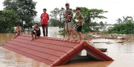 Đại thảm họa vỡ đập thủy điện ở Lào sát mé Việt Nam, cuốn hàng trăm người - Ảnh 1.