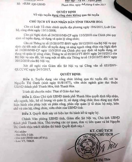 Đề xuất hủy quyết định bổ nhiệm sai 6 lãnh đạo TP Thanh Hóa - Ảnh 1.