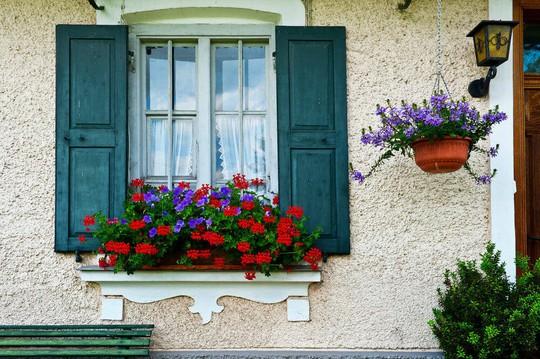 Những khung cửa sổ đẹp hút hồn nhờ sắc hoa rực rỡ - Ảnh 4.