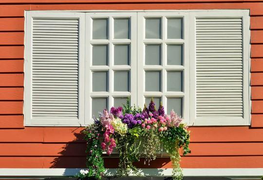 Những khung cửa sổ đẹp hút hồn nhờ sắc hoa rực rỡ - Ảnh 7.