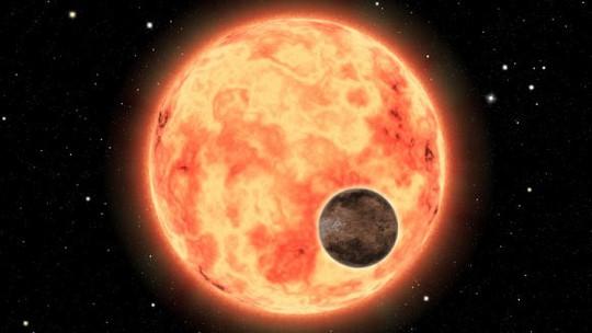 Hình vẽ minh họa mô tả siêu trái đất mới phát hiện và ngôi sao chủ của nó - ảnh do nhóm nghiên cứu cung cấp