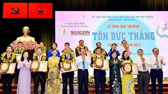 11 cá nhân đoạt Giải thưởng Tôn Đức Thắng năm 2018 - Ảnh 1.