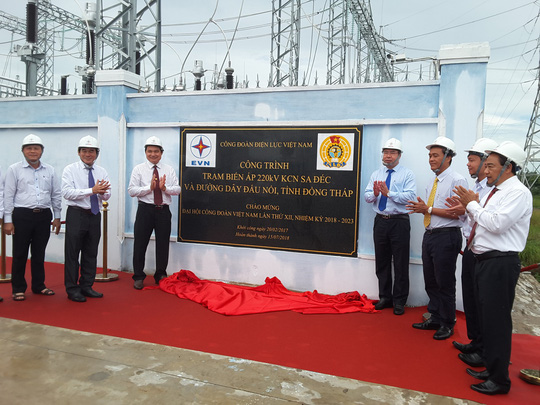 Gắn biển công trình trạm biến áp 220kV - Khu Công nghiệp Sa Đéc - Ảnh 2.