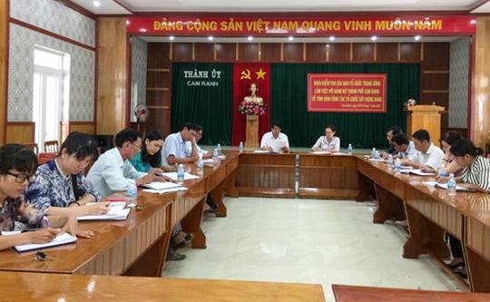 Kỷ luật Trưởng Ban Dân vận TP Cam Ranh vì liên qua đến nhà đất - Ảnh 1.