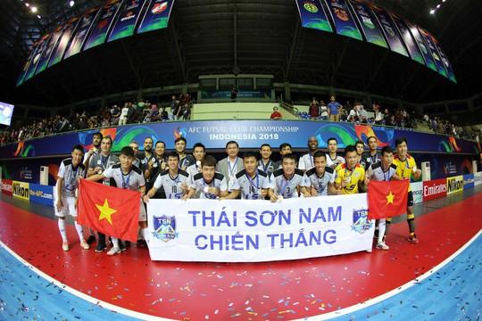 Thái Sơn Nam về nhì futsal châu Á - Ảnh 1.