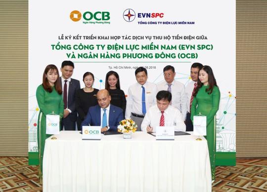 OCB thu hộ tiền điện