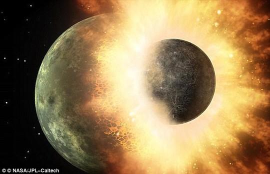 Trái đất có sự sống nhờ hành tinh Theia lao thẳng vào - Ảnh 1.