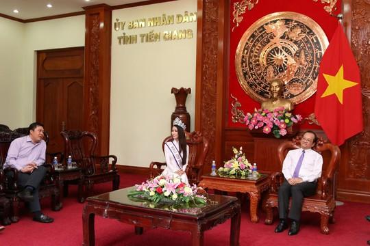 Hoa hậu Đại sứ Du lịch thế giới Phan Thị Mơ về thăm Tiền Giang - Ảnh 3.