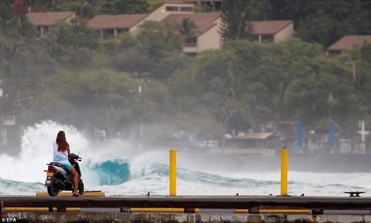 Tàu chiến và tàu ngầm Mỹ chạy khỏi Hawaii vì bão mạnh - Ảnh 2.