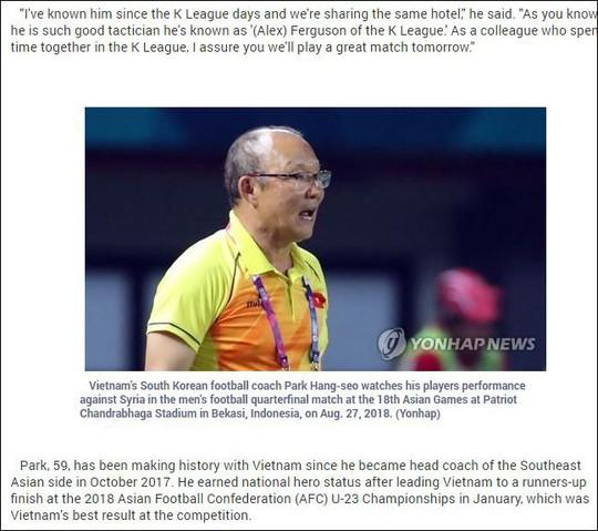 Truyền thông Hàn Quốc và báo nước ngoài khen ngợi Olympic Việt Nam - Ảnh 4.