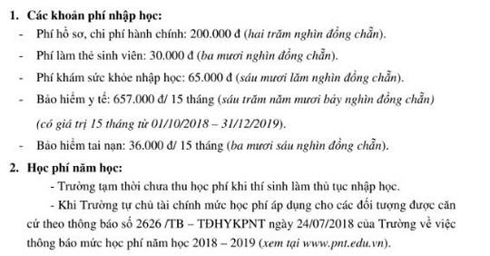 Tân sinh viên Trường ĐH Y khoa Phạm Ngọc Thạch chưa biết mức học phí - Ảnh 1.