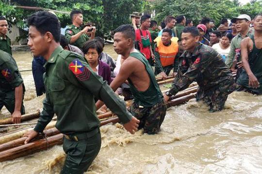 Myanmar: Vỡ đập, 100 ngôi làng ngập trong nước lũ - Ảnh 4.