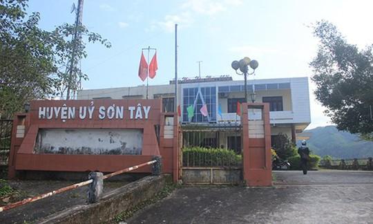 Quảng Ngãi: Kỷ luật nhiều cán bộ chủ chốt huyện Sơn Tây - Ảnh 1.