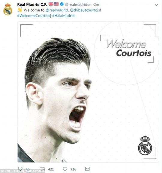 Chính thức: Chelsea bán Courtois, ra mắt thủ môn đắt nhất thế giới - Ảnh 1.