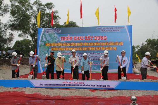 Quảng Trị: Khởi công xây dựng đường trung tâm trục dọc Khu Kinh tế Đông Nam - Ảnh 2.