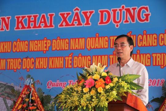 Quảng Trị: Khởi công xây dựng đường trung tâm trục dọc Khu Kinh tế Đông Nam - Ảnh 1.