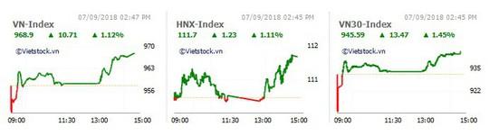 VNM và ngân hàng dẫn sóng, VN-Index tăng gần 11 điểm - Ảnh 1.