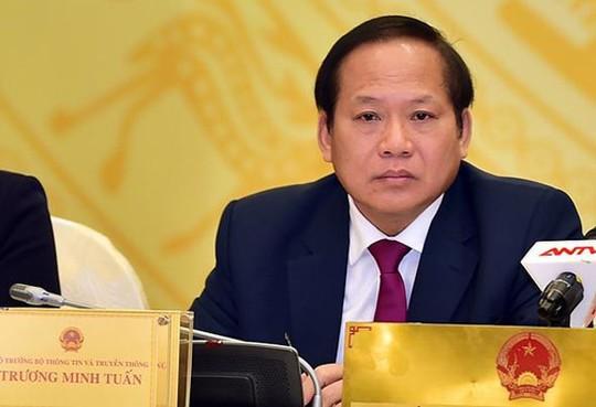 Đề xuất Quốc hội miễn nhiệm chức danh bộ trưởng TT-TT vào ngày 22-10 - Ảnh 1.