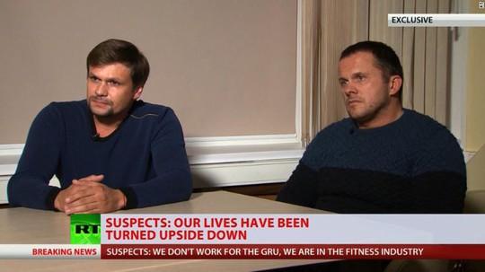 """Hai """"nghi phạm đầu độc cựu điệp viên Nga"""" lên tiếng - Ảnh 1."""