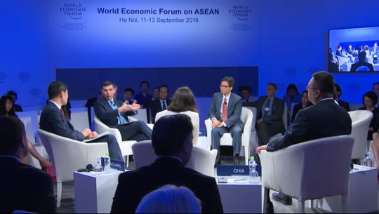 Phó Thủ tướng Vũ Đức Đam nói về chương trình sách giáo khoa mới tại WEF ASEAN - Ảnh 1.