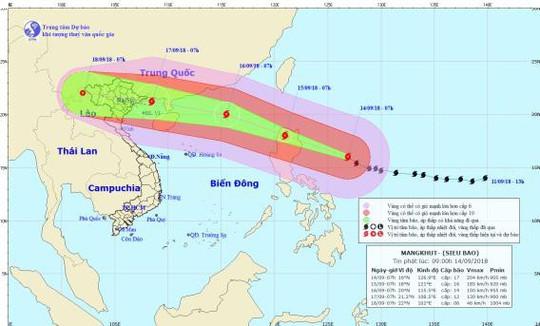 27 tỉnh, thành có thể bị ảnh hưởng bởi siêu bão Mangkhut - Ảnh 1.