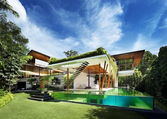 Thăm biệt thự Singapore đẹp như tiên cảnh - Ảnh 1.