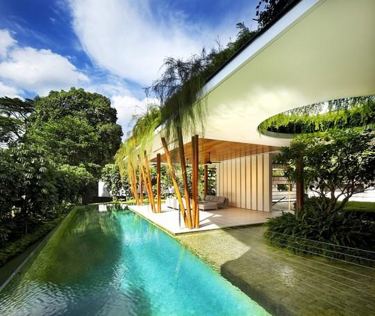 Thăm biệt thự Singapore đẹp như tiên cảnh - Ảnh 4.