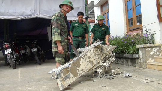 Phát hiện vật thể lạ nghi là của máy bay bị rơi xuống biển Quảng Bình - Ảnh 1.